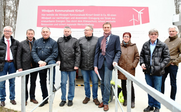 Foto: Spatenstich Windpark Kommunalwald Kirtorf April 2016